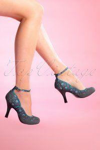 Jenny Pumps in Grey Ruby Shoo Jenny Grey Pumps 402 19 15783 Joelle 08192015 Pin Up Shoes, Sock Shoes, Cute Shoes, Shoe Boots, Shoes Heels, Retro Shoes, Vintage Shoes, Dream Shoes, Crazy Shoes