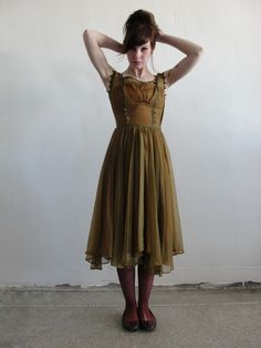 Antique Dress Woodland Ball Party Gown