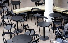 Brighton Dome Café-bar (UK) Compas chair by Christophe Norguet for Kristalia #designchair #bistrofurniture #barfurniture