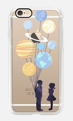 Casetify iPhone 7 Case and Other iPhone Covers -Space love ( romance and balloons f) by MARTA OLGA KLARA   #Casetify #iphone7case,