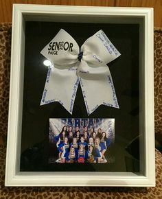 "The post ""Cheerleading Senior / Coach Gift Shadow Box"" appeared first on Pink Unicorn Senior gifts Football Cheer, Cheer Camp, Cheer Dance, Varsity Cheer, Alabama Football, American Football, College Football, Cheer Coach Gifts, Cheer Gifts"