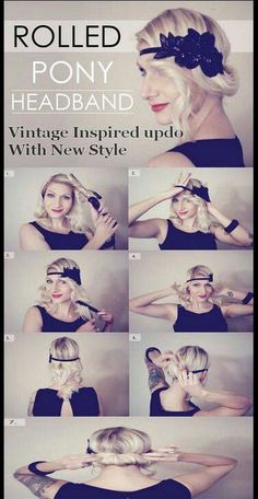Easy to do flapper style! Beth this I for u!