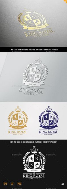 Real Estate Logo — Photoshop PSD #classic filigree #deluxe resort • Available here → https://graphicriver.net/item/real-estate-logo/9057628?ref=pxcr