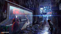 Remember me - passage parisien Picture sci-fi, cyberpunk, environment) Cyberpunk 2077, Ville Cyberpunk, Cyberpunk City, Futuristic City, Cyberpunk Aesthetic, Blade Runner, Sci Fi City, Steampunk, New Retro Wave