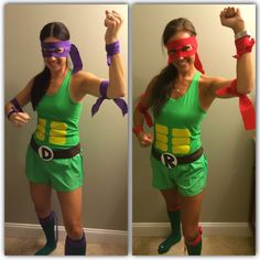 Diy Teenage Mutant Ninja Turtle Costume Tmnt Ninja Turtle Ninja Turtle Costume Donatello Raphael Nurse Halloween Costume Halloween Nurse Creative Costumes