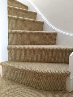 40 Best Carpet On Stairs Images Carpet Stairs Stair Runner   Beige Carpet On Stairs   Pattern   Dark Beige   Nice   Bound Edge   Hardwood Transition