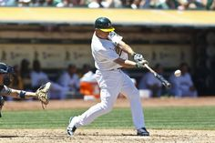 OAKLAND, CA - JULY 22: Brandon Inge #7 of the Oakland Athletics hits a home run against the New York Yankees during the fifth inning at O.co Coliseum on July 22, 2012 in Oakland, California. (Photo by Jason O. Watson/Getty Images) Photo: Jason O. Watson, Getty Images / SF