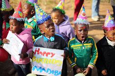 Nelson Mandela spent his birthday in hospital today but his health was 'steadily improving', the South African presidency said, as people around the world honoured his legacy Nelson Mandela Birthday, Heart Hospital, Toronto Star, Singing Happy Birthday, Kids Wear, Children Wear, People Around The World, Cool Pictures, Birthdays