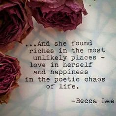 Discovery within the Self leads to abundant materials to inspire growth! ♥