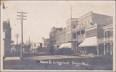 RP; Main Street Looking West, Bangor, Wisconsin, PU-1907 Item# SCVIEW362718 (256212781)