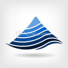 Layering mountain vector icon,Abstract concept of seismology, — Stock Vector Free Vector Images, Vector Free, Earth Logo, Mountain Logos, Brand Design, Vector Icons, Logo Branding, Layering, Royalty