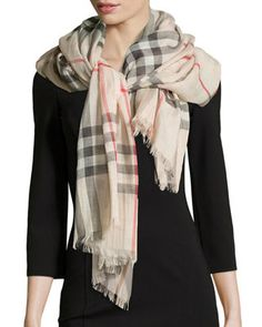 Checked Scarf, Outdoor Apparel, Burberry Women, Burberry Handbags, Burberry Bags, Burberry Outfit, Hermes Handbags, Cashmere Scarf, Womens Scarves