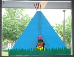 Tipi op het raam Indian Theme, Autumn Activities, Native Indian, Thanksgiving Turkey, Fall Crafts, Wilde Westen, Nativity, Native American, Preschool