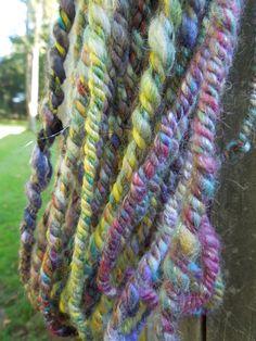 Jeweled Rope Handspun Yarn by RainbowTwistShop on Etsy, $43.75