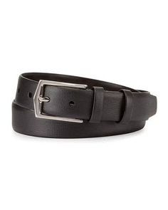 London Leather Dress Belt, Black