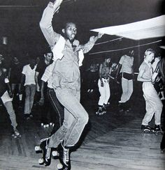 Riding wheels of steel at the Empire Roller Skating Center in Crown Heights, Brooklyn and Manhattan's The Metropolis Roller Skate Club, which was located right around the corner from Studio 54.