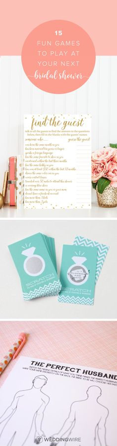 15 Fun Games to Play at Your Next Bridal Shower - From bingo to mad libs explore 15 games sure to be a blast at your next bridal shower on @weddingwire!  {Photo Courtesy of Etsy}