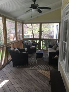 New screened in porch to decorate