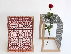 Clash with a rose. Danish house in Paris. Design by Philip Bro. Nordic oak and metal. Was a part of the danish cabinetmaker autumn exhibition 2015.  http://www.kjeldtoft.com/