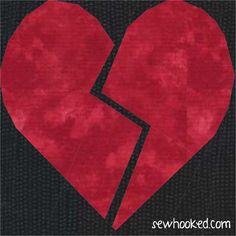 Free Quilt Pattern: Broken Heart