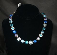 Mariana Blue, Teal and Aqua Necklace.  I want this because of my sweet baby boy <3