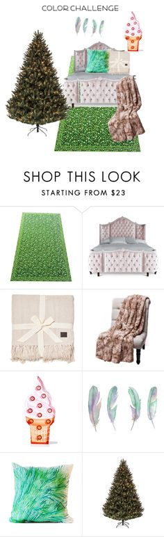"""""""Untitled #69"""" by sarahemajanickova ❤ liked on Polyvore featuring interior, interiors, interior design, home, home decor, interior decorating, Haute House, UGG, Sunnylife and Elise Flashman"""