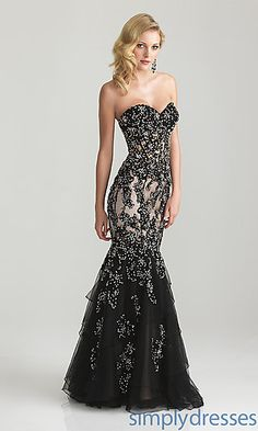 Night Moves 6652 Strapless Dress at SimplyDresses.com