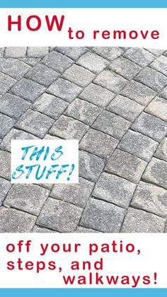 How to Remove Mildew and Mold from Paver Patios and Concrete Surfaces. Get rid of the gray /black stuff on your patio the first time with this tried and true method! No pressure washer needed! Cleaning Concrete Patios, Cleaning Pavers, Clean Concrete, Pool Cleaning, Deep Cleaning Tips, House Cleaning Tips, Cleaning Solutions, Spring Cleaning, Cleaning Hacks