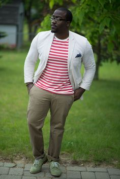 Acollectedgentleman: a collected style: summer Clothes For Big Men, Plus Size Fashion Tips, Big Men Fashion, Plus Size Men, Blazer Fashion, Swagg, Menswear, Style Summer, Gentleman