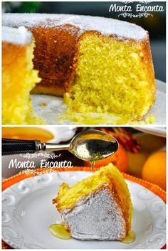 Bolo de laranja Quem não adora um bolo simples? Sem recheio, nem coberturas complicadas. Simples de fazer e fácil de comer, ainda quente. Perfuma a casa, e traz alegria ao café da tarde! Re…