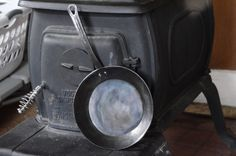 Hand Forged Iron Skillet Carbon Steel Pan Blacksmith Made And Cast Iron Stove