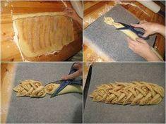 21 obrázkových trikov s cestom, vďaka ktorým bude aj pečenie zábavou Bread Shaping, Bread Art, Braided Bread, Our Daily Bread, Bread And Pastries, Food Decoration, Bread Rolls, Greek Recipes, Sweet Bread