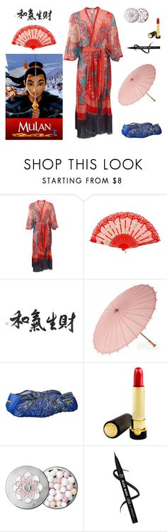 """""""Mulan Look Alike - Movie Inspired Look"""" by kimber-rose on Polyvore featuring FUZZI, Vibram FiveFingers, Tatcha and Guerlain"""