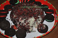 Serena's Festive Chocolate Chip Mint Oreo Cheese Ball click on my website for step by step photos ..http://cookingwithserena.com/?p=208478