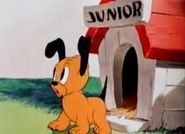 Pluto Junior is the fun-loving son of Pluto and Fifi in a single short. He has four other siblings.