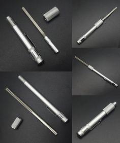 [Visit to Buy] Portable Outdoor Pen style Diamond Knife Fishhook Sharpener Hand Outdoor Tools kit #Advertisement