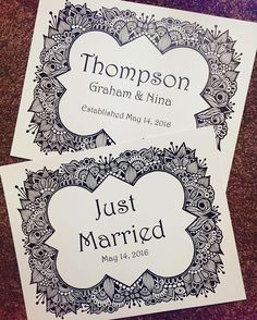 it's my brothers wedding weekend! #zentangle #zenspire #zenspiredesigns #thompsons