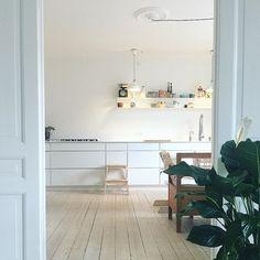 Lovely Kvik kitchen by 👌🏼 Danish Design, Loft, White Kitchens, Kitchen Inspiration, Furniture, Instagram, Home Decor, Decoration Home, Room Decor