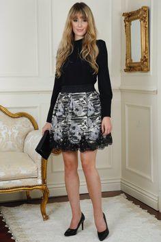 Pam Black and Grey Embellished Detail Skirt