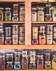 I love this! It is real! Glass jar storage is the best! Glass jar labeling I love this! It is real! Glass jar storage is the best! Kitchen Organization Pantry, Pantry Storage, Kitchen Pantry, Organization Hacks, Organized Pantry, Pantry Ideas, Diy Kitchen, Refrigerator Organization, Tea Storage
