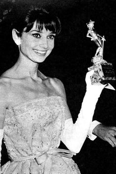 Winning the David di Donatello award for Breakfast at Tiffany's