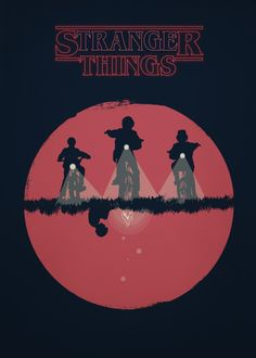 stranger things netflix alien kill chase photoshop illustrator 1980 art minimalist movie serie poster disappear police terrifying adobe retro 80 horror dark monster red black bikes eleven stranger things death die killed original upside down upsidedown minimalistoc text simplistic circle cia fbi supernatural smalltown mystery thriller blood underworld eggos 11 girl powers