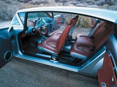 Dodge Super 8 Hemi Concept - Interior, 2001 - Interior detail, with suicide doors open - pic 3 of 3