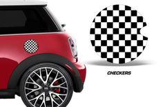Mini-Cooper-\-Gas-Cap-Decal-Graphic-Sticker--CHECKERS