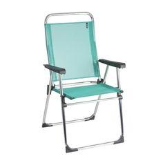 Lafuma Victoria Alu brut Aluminum Frame Folding Chair with Emeraude Batyline Fabric (Set of 6)