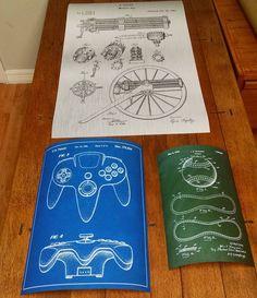 Got some new posters in! #patent #art #prints #patentart #classic #n64 #baseball #gatlinggun