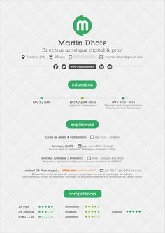 Resume v2 by Martin Dhote, via Behance
