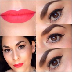 Wing liner and bold lips