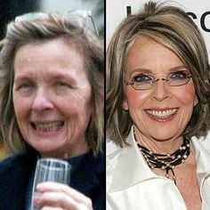 Celebrity with no makeup: Diane Keaton without makeup  along with about twenty others