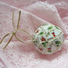 Hey, I found this really awesome Etsy listing at https://www.etsy.com/listing/106688402/mosaic-christmas-ornament-ball